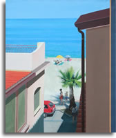 Scylla. Beach from the appartment 30 x 36ins (75 x 95cm)